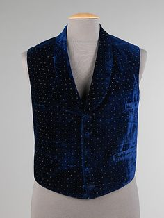 Vest, Dinner  Date: 1850–59 Culture: American Medium: silk, cotton, leather