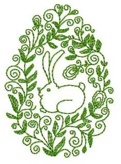 designs, Easter Bunny Embroidery Design: ABC-Free-Machine-Embroidery-Designs.com Designs