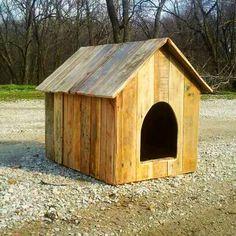 Pallet Wood Puppy dog house