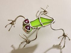Red Eyed Tree frog Stained Glass Small by Glassquirks on Etsy, $30.00