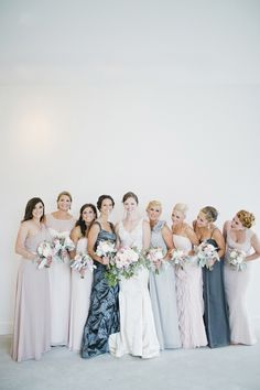 Muted, dusty pastels: http://www.stylemepretty.com/new-york-weddings/beacon-new-york/2015/09/09/traditional-elegant-wedding-at-the-roundhouse-in-beacon-falls/ | Photography: CLY by Chung - http://www.clybychung.com/
