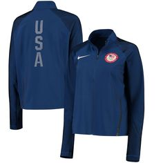 Show your support for Team USA with this Stadium full-zip jacket from Nike! Team Usa, Nike Outfits, Blazers, Team Jackets, Olympic Team, Running Jacket, Jackets For Women, Clothes For Women, Team Apparel