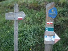 Many signs as we headed out in the morning from St Chely d'Aubrac