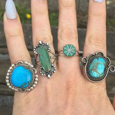 INSTAGRAM SALE!  Such beautiful stones in this line-up! vintage Navajo handmade…