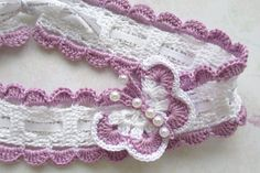 Crochet Headband With Butterfly PATTERN Baby girl by ElenaBoTi
