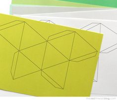 Get creative with your decor by making these 3d paper gems to the red thread paper geo decorations template solutioingenieria Images