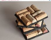 SALE Wine Cork Coasters Set of 4 Wine Cork by MaxplanationPhotos
