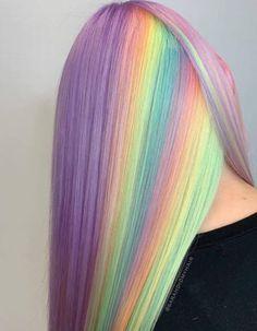 Perfect Hair Color, Cute Hair Colors, Pretty Hair Color, Beautiful Hair Color, Hair Dye Colors, Exotic Hair Color, Vivid Hair Color, Pastel Rainbow Hair, Pastel Hair