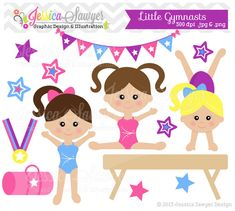 INSTANT DOWNLOAD  little tumblers clip art by JessicaSawyerDesign, $4.00