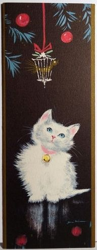 vintage cats christmas cards   vintage christmas