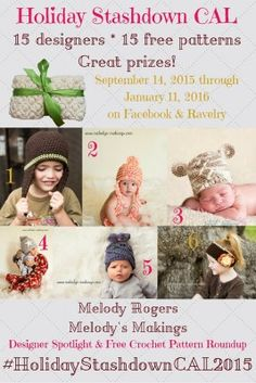 #HolidayStashdownCAL2015 Designer spotlight: Mini interview with Melody Rogers/Melody's Makings, roundup of free crochet patterns, and giveaway!