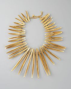 Necklace | Aurelie Bidermann. Yellow golden brass and Knotted rope spacers.