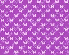 Purple Butterflies  Digital Scrapbooking Paper  by blossompaperart, $1.30