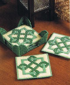 CELTIC COASTERS  Plastic Canvas PATTERN by M2Hawk on Etsy