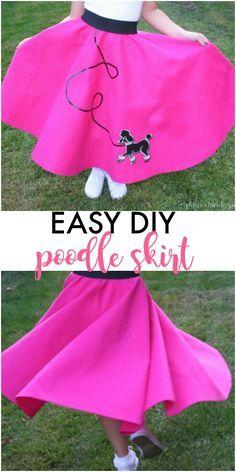 DIY poodle skirt - great halloween costume