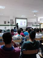 """On 7th April, it was held the  conference """"Internet and Social Networks for Employability"""" with another group of students at Secondary School Juan Ramón Jiménez in Moguer (Huelva)."""