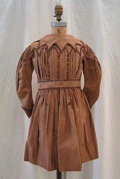 early 1830s child's coatdress.