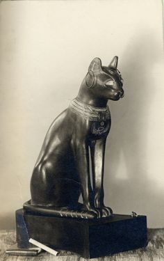 The Gayer-Anderson Cat is an Ancient Egyptian statue of a cat made out of bronze, from the Late Period, about 664-332 BC / © The Trustees of the British Museum  Department: Ancient Egypt & Sudan