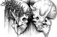 DEVIL JESUS TATTOO | Jesus Skull Vs Devil Tattoo Design
