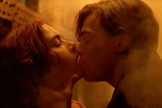 Kate Winslet & Leonardo DiCaprio, Titanic From the moment Winslet demands DiCaprio draw her wearing the Heart of The Ocean necklace, and only the Heart of The Ocean necklace, the tension that had been building with all their sneaking around, steerage partying, and boat-deck spitting was finally getting released. Their chemistry was so hot, they literally steamed up a car, and left one smudgy handprint to prove it.