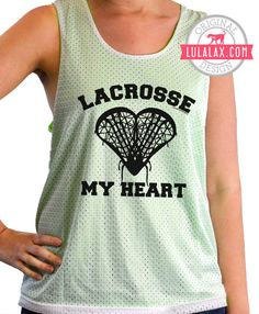 How awesome is this pinnie? Perfect for practicing Lacrosse in!