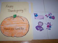 Preschool Thanksgiving Lapbook activity