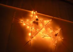 Parol -- star-shaped Christmas lantern made of recycled bamboo twigs.