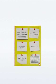 Livre Small Move, Big Change: Using Microresolutions to Transform Your Life Permanently - Urban Outfitters