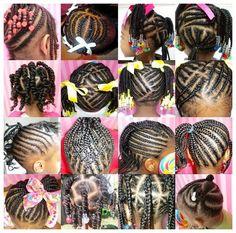 Des coiffures & des petites filles | Girl hairstyles, Black girls ...