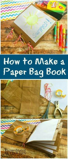 How to Make a Paper Bag Book for Kids - Here is an easy tutorial to make a paper bag book using brown lunch bags and other household supplies. Crafts preschool How to Make a Paper Bag Book for Kids Paper Bag Books, Paper Bag Crafts, Fun Crafts, Diy Paper Bag, Craft Activities For Kids, Projects For Kids, Diy For Kids, Craft Projects, Camping Activities
