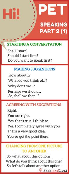 PET Speaking Phrases