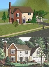 Mod The Sims - 5 Oakridge Drive Sims 5, Casas The Sims 4, New Series, House Plans, Mansions, House Styles, Middle, Home, Manor Houses