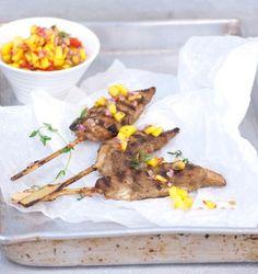 Spicy Jamaican jerk chicken skewer