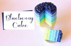 how to: blueberry cake Polymer Clay Cake, Polymer Clay Miniatures, Fimo Clay, Polymer Clay Charms, Polymer Clay Creations, Polymer Clay Jewelry, Biscuit, Cute Clay, Clay Food