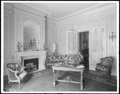 40 West 74th Street. E. [Edmond] Haas residence, drawing room at mantel.