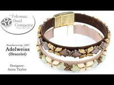 Adelweiss Bracelet (Beading Tutorial) - YouTube