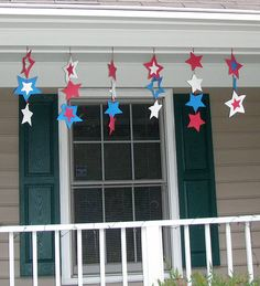 Crack of Dawn Crafts: Spreading Patriotic Cheer With Craft Foam: A of July Decoration Idea Fourth Of July Decor, 4th Of July Celebration, 4th Of July Decorations, 4th Of July Party, July 4th, Patriotic Crafts, July Crafts, Holiday Crafts, Holiday Fun