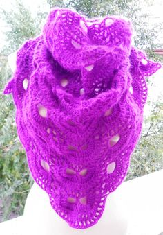 Bougainvillea flower virus shawl romantic boho by Handpaintedworld