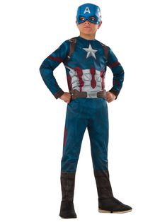 Check out Marvel's Captain America: Civil War - Boys Captain America Costume - Wholesale Marvel Comics Costumes for Boys from Wholesale Halloween Costumes