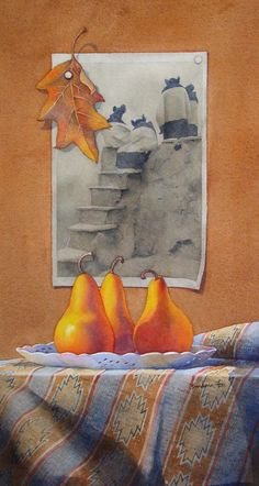 watercolor painting of a picture... nice still life