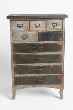 use dressers as multipurpose items. ideas: in offices for office items that normally cause clutter, for extra linens, bathroom items such as products or stock up items like tp, or for household items such a s lightbulbs, cleaners, you name it)