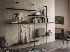 Libreria a parete componibile AIRPORT by Cattelan Italia | design Giorgio Cattelan