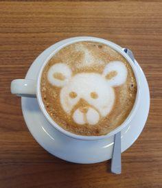 Latte Bär @ Akrap Finest Coffee Espressobar Vienna Espresso Bar, Latte, Artisan, Coffee, Drinks, Food, Coffee Milk, Craftsman, Kaffee