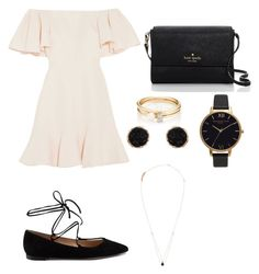 """""""Date Night #2"""" by lianneshin ❤ liked on Polyvore featuring Valentino, Gianvito Rossi, Kate Spade, Loren Stewart, Olivia Burton and Humble Chic"""