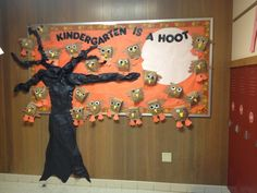 fall bulletin board ideas for preschool | Kindergarten is a Hoot! Fall bulletin board ... | Kids + Fall Ideas...
