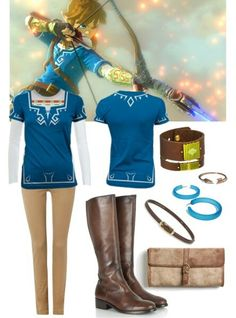 A fashion look from October 2014 featuring American Vintage t-shirts, Polo Ralph Lauren pants et Sefton boots. Browse and shop related looks. Casual Cosplay, Cosplay Outfits, Cosplay Ideas, Costume Ideas, Zelda Birthday, Character Inspired Outfits, Zelda Breath, Legend Of Zelda, Costumes For Women