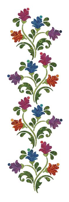 New Embroidery Flowers Designs Quilt Blocks Ideas Machine Quilting Patterns, Applique Quilt Patterns, Hand Applique, Applique Designs, Embroidery Applique, Quilting Designs, Embroidery Patterns, Machine Embroidery, Tattoo Muster