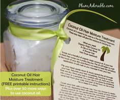 Coconut  Hair Moisture Mask Gift  With Free Printables