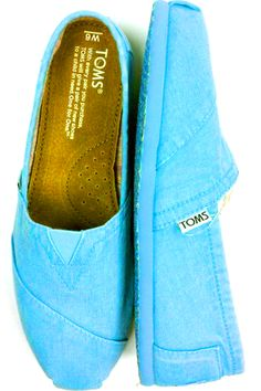Shoes / TOMS SHOES AVAILABLE IN STORE ONLY / Flourescent Blue ...