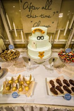 harry potter themed bridal shower. this is unspeakably awesome - i need a fellow HP lover to get engaged asap!